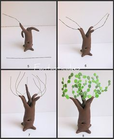 how to make a tree out of fondant