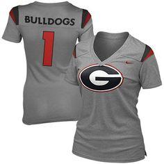 8416d5dda Nike Georgia Bulldogs Ladies Replica Premium T-Shirt - Gray Georgia  College