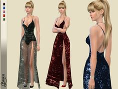Valentine Long Dress by Birba32 at TSR • Sims 4 Updates