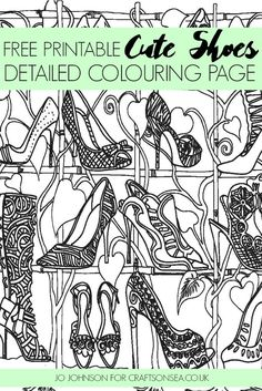 Free Detailed Colouring Page Shoes
