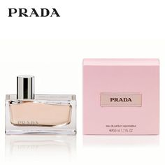 The Prada fragrance re-explores the spirit of Amber, an inherent component of the roots of ancient perfumery, in four characteristic ways, each based on one ancestral ingredient; pure with sandalwood oil from India, addictive with patchouli from Indonesia, precious with labdanum resin from France, profound with benzoin from Siam. The sleek, modern glass bottle comes with an artisan's plaque, engraved with the key ingredients of the fragrance.