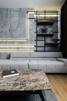 sala de estar em estilo industrial