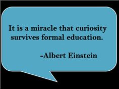 Albert Einstein quote...so true- we need to foster more choice & support different learning styles