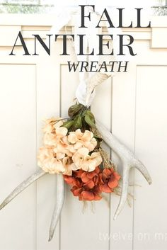 Have you ever thought to make a fall antler wreath? I love the simplicity of…