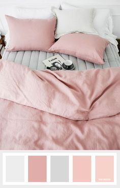 pink bedding makes any room look comfy