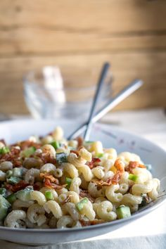 Bacon Green Onion Pasta Salad - PERFECT for summertime!
