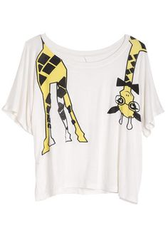 dELiAs > Nerdy Giraffe Tee > tops > graphic tees > view all graphic tees