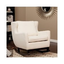 Upholstered Rocking Chairs For Living Room Chair Nursery Family Elegant