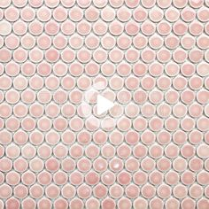 Tuile de mosaïque ronde Pretty Pink Penny #pink #tiles #wall Pink Tiles, Pretty In Pink, Stepping Stones, Outdoor Decor, Wall, Home Decor, Daughters, Porcelain, Drinkware