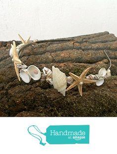 Seashells Starfish Beach Wedding Crown, Nautical Mermaid jewelry, Natural hair accessories from Handmade AnaMarina https://www.amazon.com/dp/B01BCMZNV0/ref=hnd_sw_r_pi_dp_L98Jxb8R9VX2R #handmadeatamazon