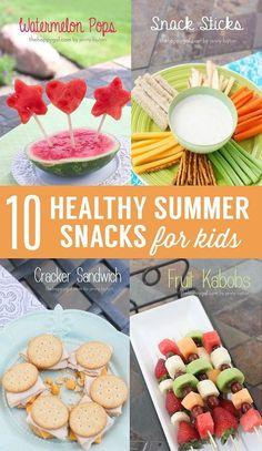 10 Healthy Summer Snacks for Kids. Fun ideas!