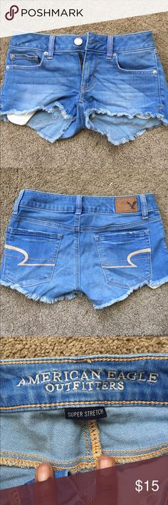 American eagle  shorts Worn just once ! No rips no stains ; not high waisted American Eagle Outfitters Shorts