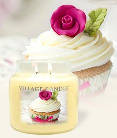 Scented Jar Candles: VANILLA CUPCAKE 16 OZ 2 Wick Burn 85-105 Hrs Village #Village