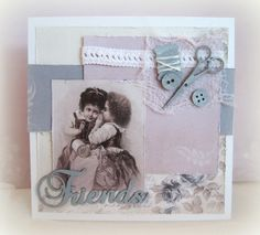 Dawn Rene also created this card with the same collection Alma's Sewing Room from Pion Designs Paper available from www.scraptownlady.com