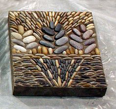 Stepping stone -- love this idea. Where to get pebbles like this???