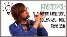 Fingerspiele: Alle meine Fingerlein sollen heut mal Tiere sein (Kinderre...
