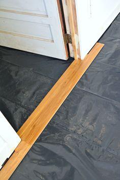 How To Install Laminate Flooring Over Concrete Laminate Flooring Basement, Installing Laminate Flooring, Linoleum Flooring, Vinyl Plank Flooring, Concrete Floors, Basement Remodel Diy, Basement Remodeling, Floating Floor, Floor Trim
