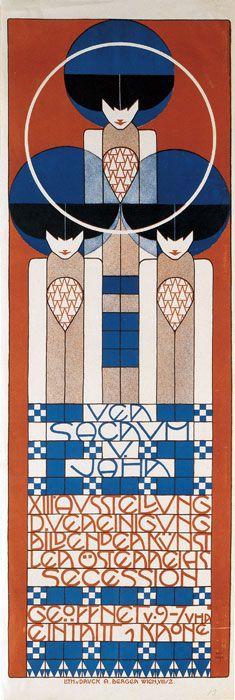 Plakat für die XIII. Secessionsausstellung, 1902, by Koloman Moser. S)