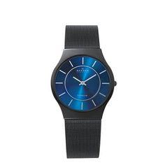 Black Titanium Mesh / Skagen. I love their extra thin watches.