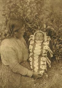 "1926  ""Isqe-Sis (""Woman Small"") and Child""   Cree - Northern Plains"