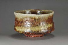 Shigaraki anagama tenday anagama wood firing with natural nash deposits Tea bowl by kanzaki shiho