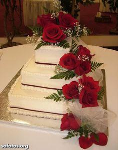 bolos de casamento de 4 andares com laços - Pesquisa Google