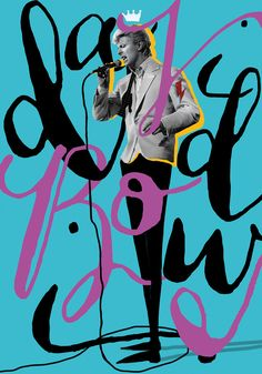 Istanbul-based a graphic designer and collage artist Selman Hoşgör created these colorful posters combining hand-lettering, illustration and memorable images of iconic rockstar David Bowie. More graphic design via Behance Collages, Collage Artists, David Bowie Poster, Istanbul, Poster Design, Type Posters, Typography Design, Handwritten Typography, Hand Lettering
