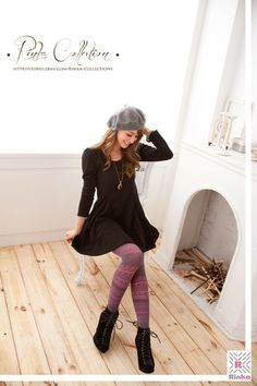 Work Fashion, Women's Fashion, Wool Tights, Patterned Tights, Leggings, Knee Boots, Stripes, Patterns, Outfits