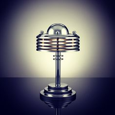 INSPIRATION: Terry Tynan creates stunning iconic designs inspired on the Art Deco style of the 1920s and 30s. He makes his lamps by hand and uses the nearly forgotten art of metal spinning. We absolutely love it!! #mrandmrsinterior #interior #interiorgram #lighting #metal #chrome #terrytynan #artdeco #interiortreasures #design