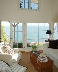 Tobi Tobin ~ serene and peaceful - Karen! Cottage Living, Coastal Living, Home And Living, Ocean Front Homes, Coastal Homes, Beach Homes, Beach House Decor, Home Decor, Beach Cottages