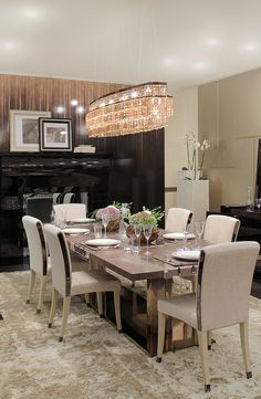 Dining room design by FendiCasa at I Saloni Worldwide Moscow, Luxury Living Group
