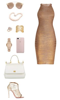 """House of Madalani"" by houseofmadalani on Polyvore featuring Hervé Léger, Christian Louboutin, Christian Dior, Dolce&Gabbana, Burberry, Bloomingdale's, Aurélie Bidermann and Hiho Silver"