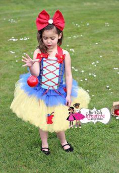 Snow White Disney Princess Birthday Party Tutu Outfit - Halloween Costume - Cake Smash - Snow White Dress Skirt Shirt 1st 2nd 3rd - 6mos-5T on Etsy, $68.00