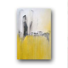 """Canvas Abstract Painting Minimalist Art Shabby Chic Style Large Original Painting Grey White  Painting Contemporary Art 36"""" by Day"""