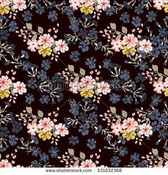 Simple cute pattern in small-scale flowers. Diagonal millefleurs. Floral seamless background for textile or book covers, manufacturing, wallpapers, print, gift wrap and scrapbooking.