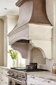 Great vent hood cover #Kitchen #Backsplash Granite #Countertops