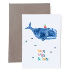 Birthday card * Happy Birthday * with whale Whale Birthday, Diy Birthday, Birthday Wishes, Birthday Cards, Happpy Birthday, Idee Diy, Diy Presents, Diy Cards, Hand Lettering