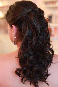 Soft curls; Half up