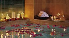 Top Tips for Transforming Your Bathroom into a Spa |  A great way to set the right ambiance and create a multisensory experience is through the use of different candles.