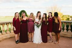LOVE the mismatched bridesmaids in Marsala