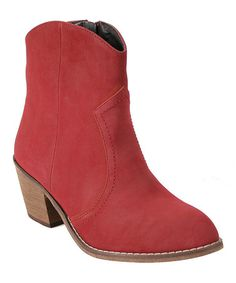 fdd0abebc04 Another great find on  zulily! Red Sundance Bootie  zulilyfinds Red Boots