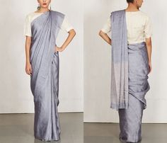 Plain Blue Silk Sarees