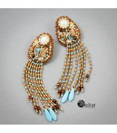 Earrings #shibori #beads #beadembroidery