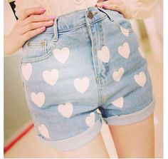 """These shorts are adorable!!! It's a DIY, which a YouTuber called, """"Macbarbie07"""" explains and shows."""