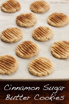 6 Ingredient - Cinnamon Sugar Butter Cookies | Sweet Anna's