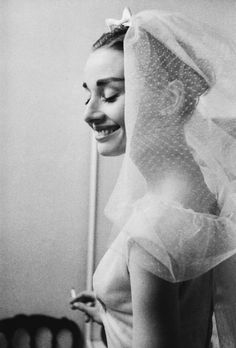 Audrey Hepburn behind the scenes of Funny Face, 1957.