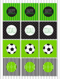 Welcome to Love The Day! These CUSTOM PRINTABLE (DIY) party tags are perfect for an upcoming Soccer Party. Party materials can be printed at home or your local print shop. Print, cut and party! Its as easy as that!