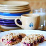 Blackberry almond crumble bars