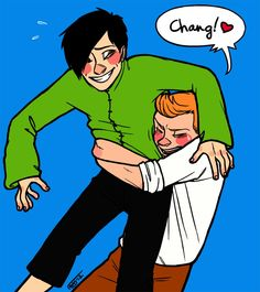 Tintin and Chang  I know I already posted it but it is like one of my top Tintin ships