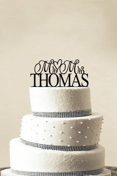 Custom+Wedding+Cake+Topper++Personalized+Monogram+by+LASERWORLD,+$10.00